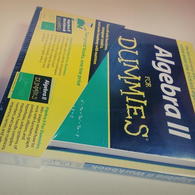 Algebra 2 For Dummies Book & Workbook Set
