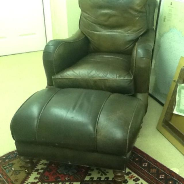 Find More Whittemore Sherrill Leather Chair And Ottoman 1000