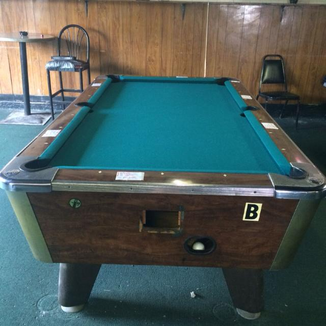 Best Victory X Coin Operated Pool Table Must Move Yourself - 3 1 2 x 7 pool table