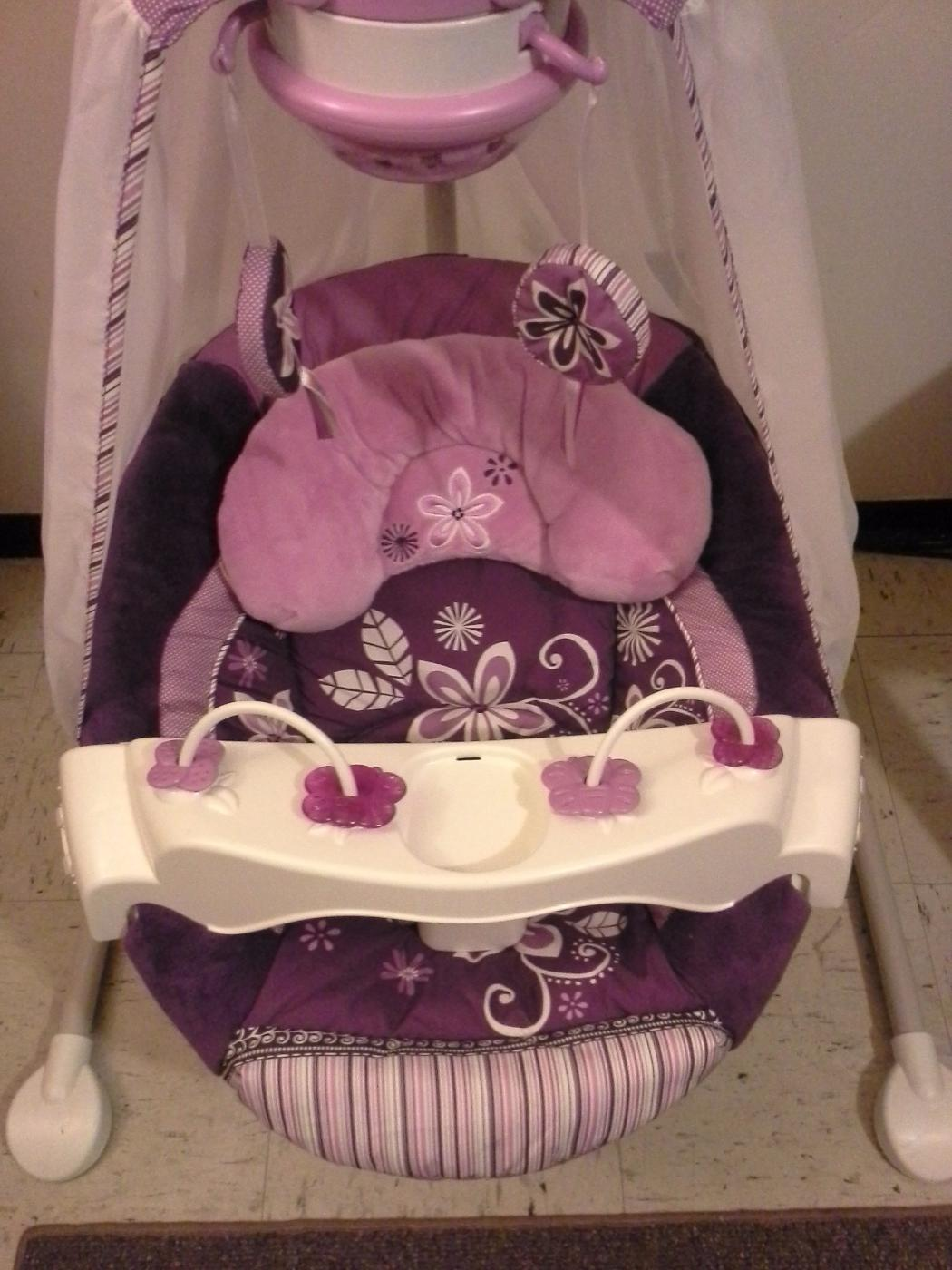 Fisher Price Sugar Plum Starlight Cradle N Swing