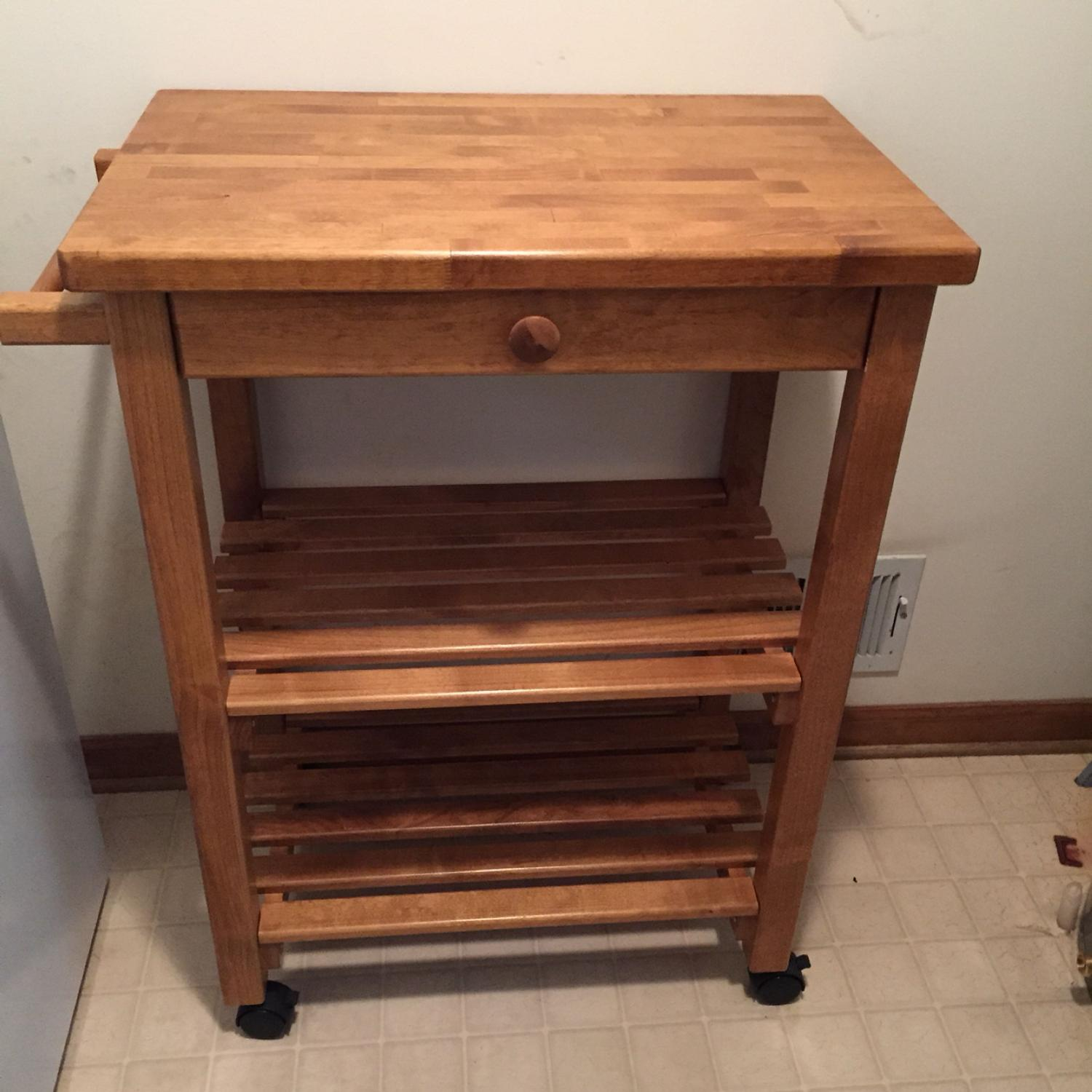 Solid Wood Microwave Cart