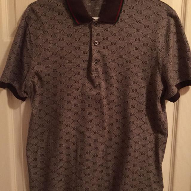 57f96b016b9 Find more Men s Authentic Gucci Polo Style Gg Print Shirt for sale ...