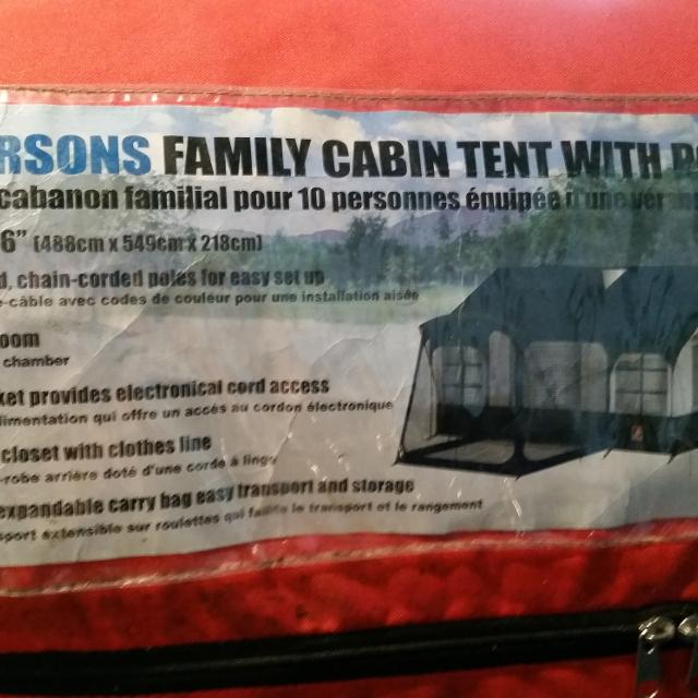 Find More Hillary 10 Person Cabin Tent With Porch For Sale At Up To