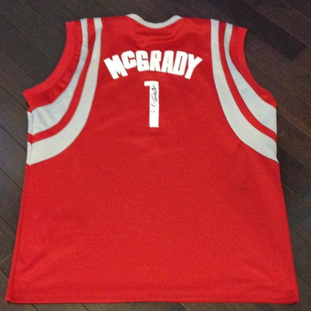 pretty nice 2ebb8 faf97 Signed NBA TMAC Rockets Jersey