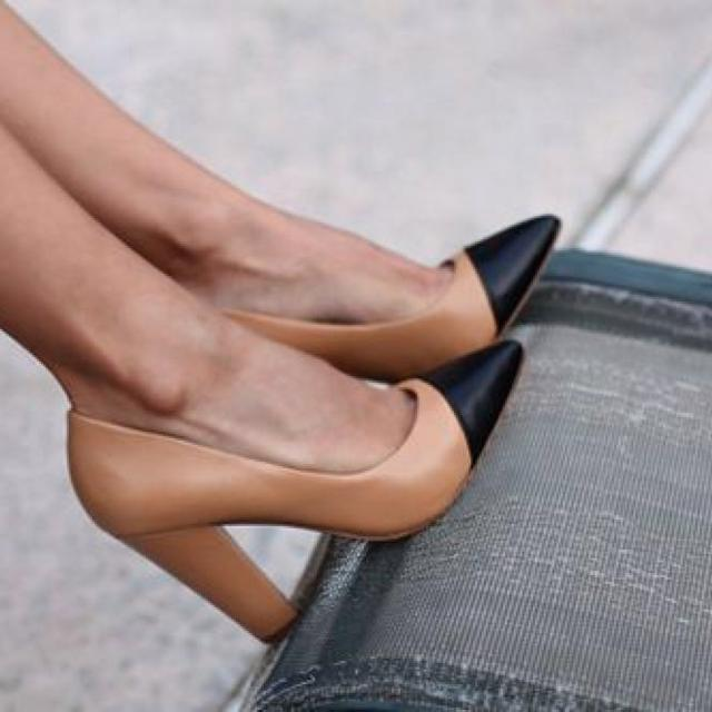 Find more Zara Nude Black Cap Toe Pumps for sale at up to 90% off