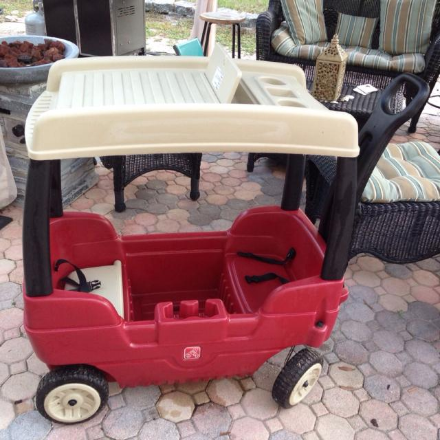 Find More Step Two 2 Covered Canopy Red Wagon Double Seats