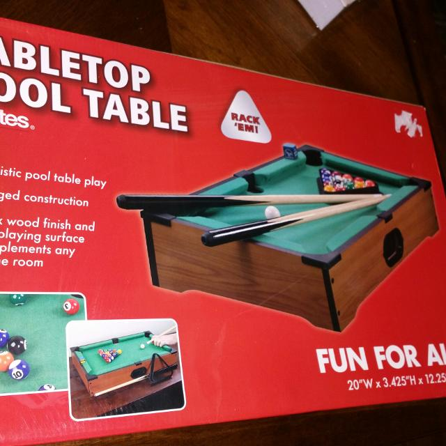 Best New In Original Box Table Top Pool Table For Sale In - Red top pool table