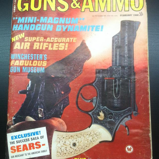 Vintage February 1968 Guns & Ammo Magazine