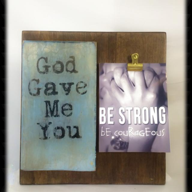 Find More Repurposed Wood God Gave Me You Clip Frame For Sale At
