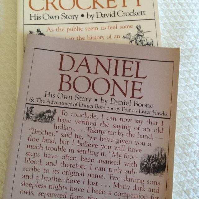 Best Davy Crockett Daniel Boone His Own Story 2 Books For Sale In