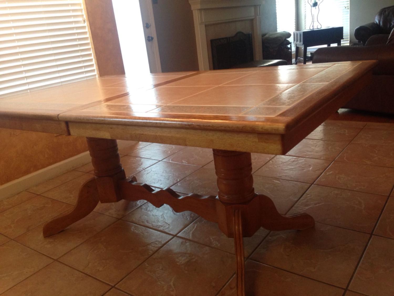 Tile top kitchen table