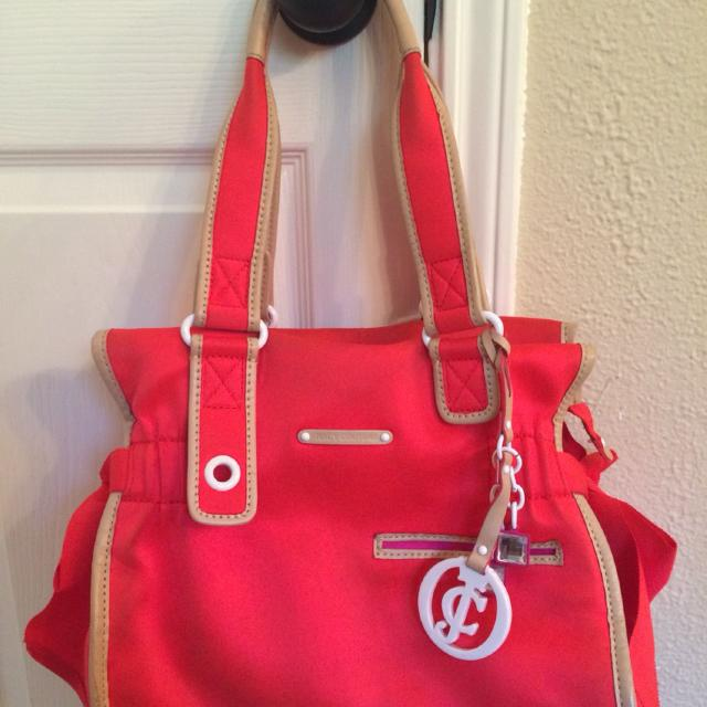 5d3d43374fadd9 Find more Juicy Couture Pink Coral Ms Daydreamer Handbag Tote Purse ...