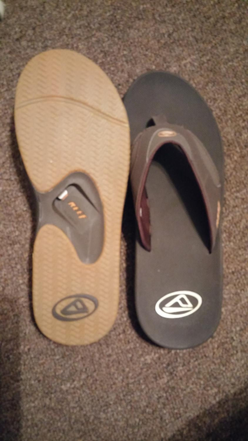 great prices coupon codes discount Men's size 14 REEF sandals with bottle opener. Never worn, paid $65 asking  $40