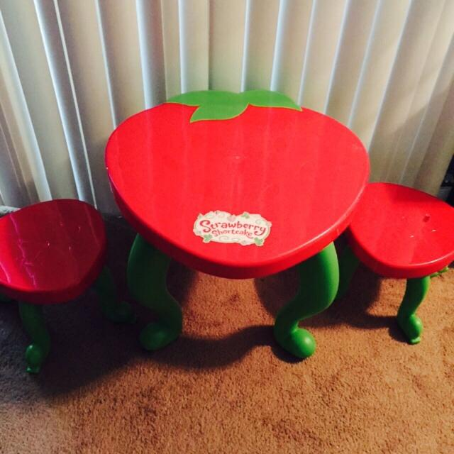 Find more Strawberry Shortcake Table And Chairs Set $10 for sale at ...