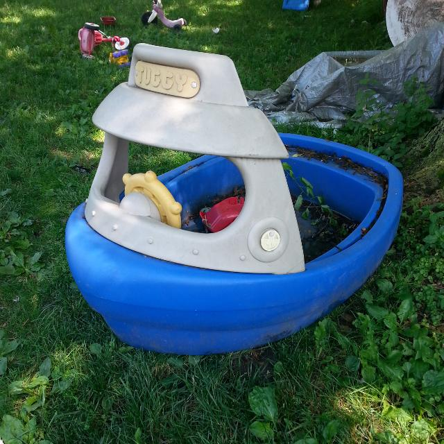 Find More Little Tikes Tuggy Boat Pool And Or Sand Box W Lid For Sale At Up To 90 Off Dekalb