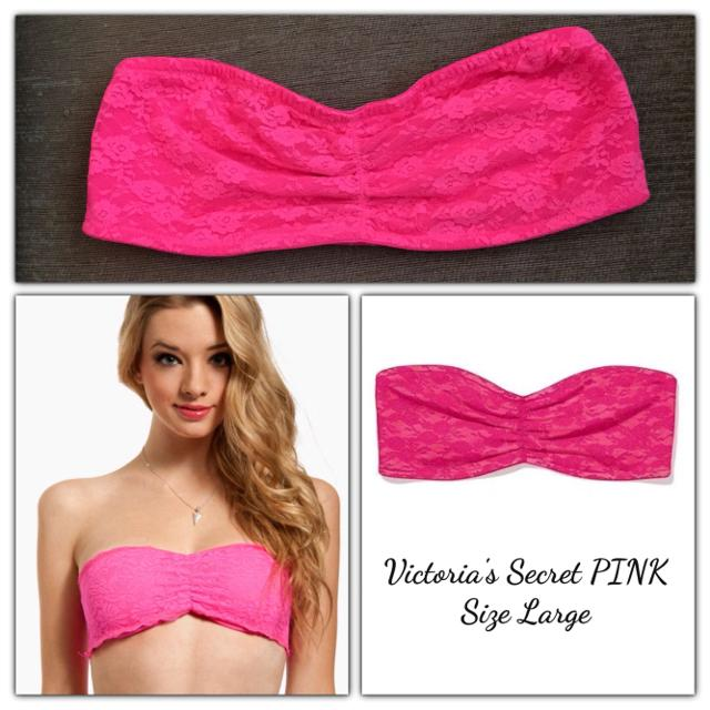f2ac458f90f38 Hot Pink Lace Bandeau - PINK - Victoria's Secret