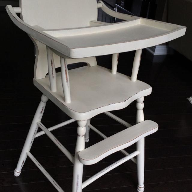 d368938d0c46c Find more Vintage High Chair Finished In Old White Annie Sloan Chalk ...