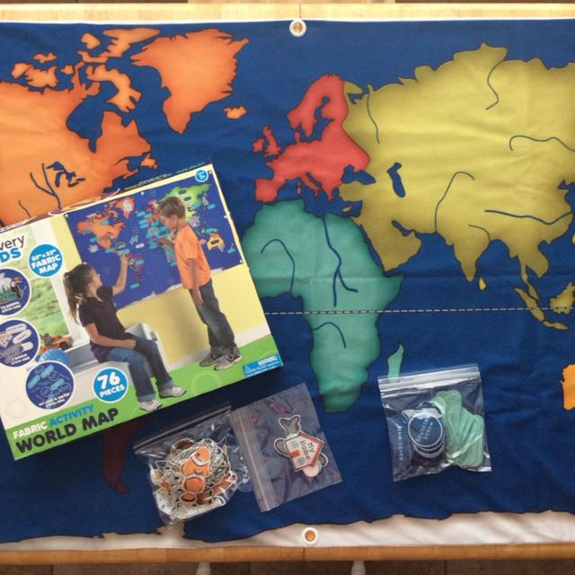 Find more discovery kids 55x 33 fabric activity world map 76 discovery kids 55x 33 fabric activity world map 76 pieces gumiabroncs Images