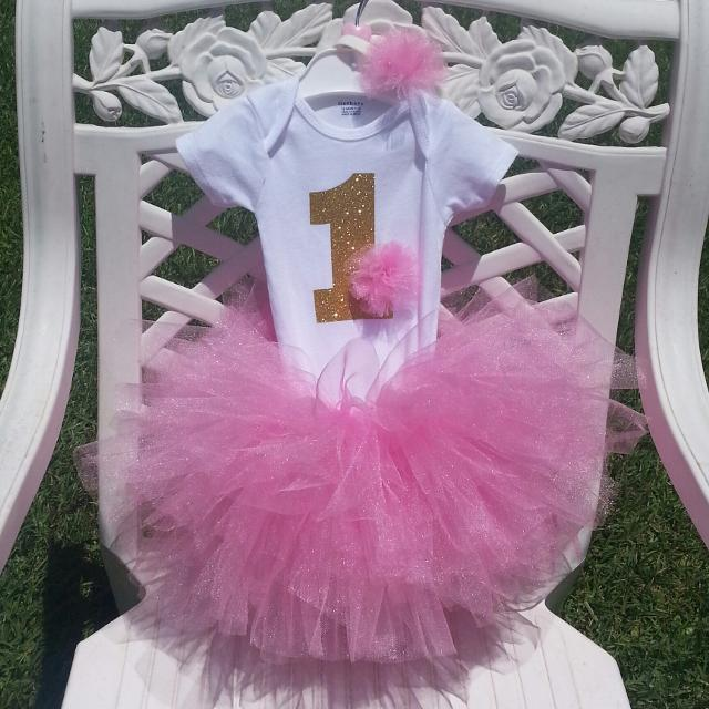045412afc Best Custom Made First Birthday Tutu Outfit for sale in Pensacola, Florida  for 2019