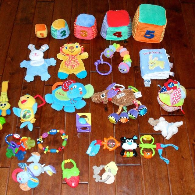 HUGE Lot Of Baby Toys Manhattan Infantino Lamaze Pottery Barn For