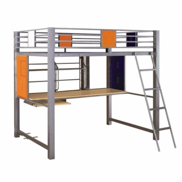 *PRICE REDUCED/MUST SELL ASAP* Powell Teen Trends Full Size Metal Loft Bed  with Desk