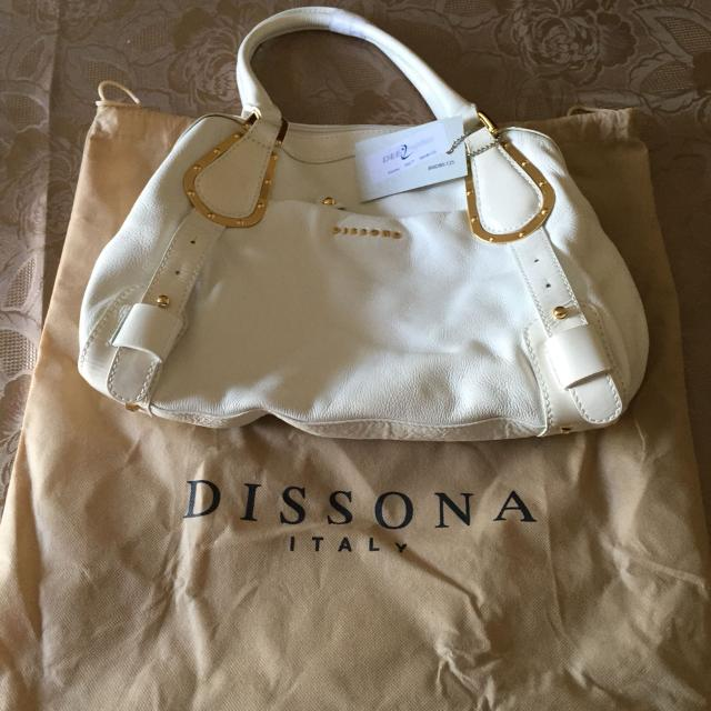 Authentic White Leather Dissona Italy Purse