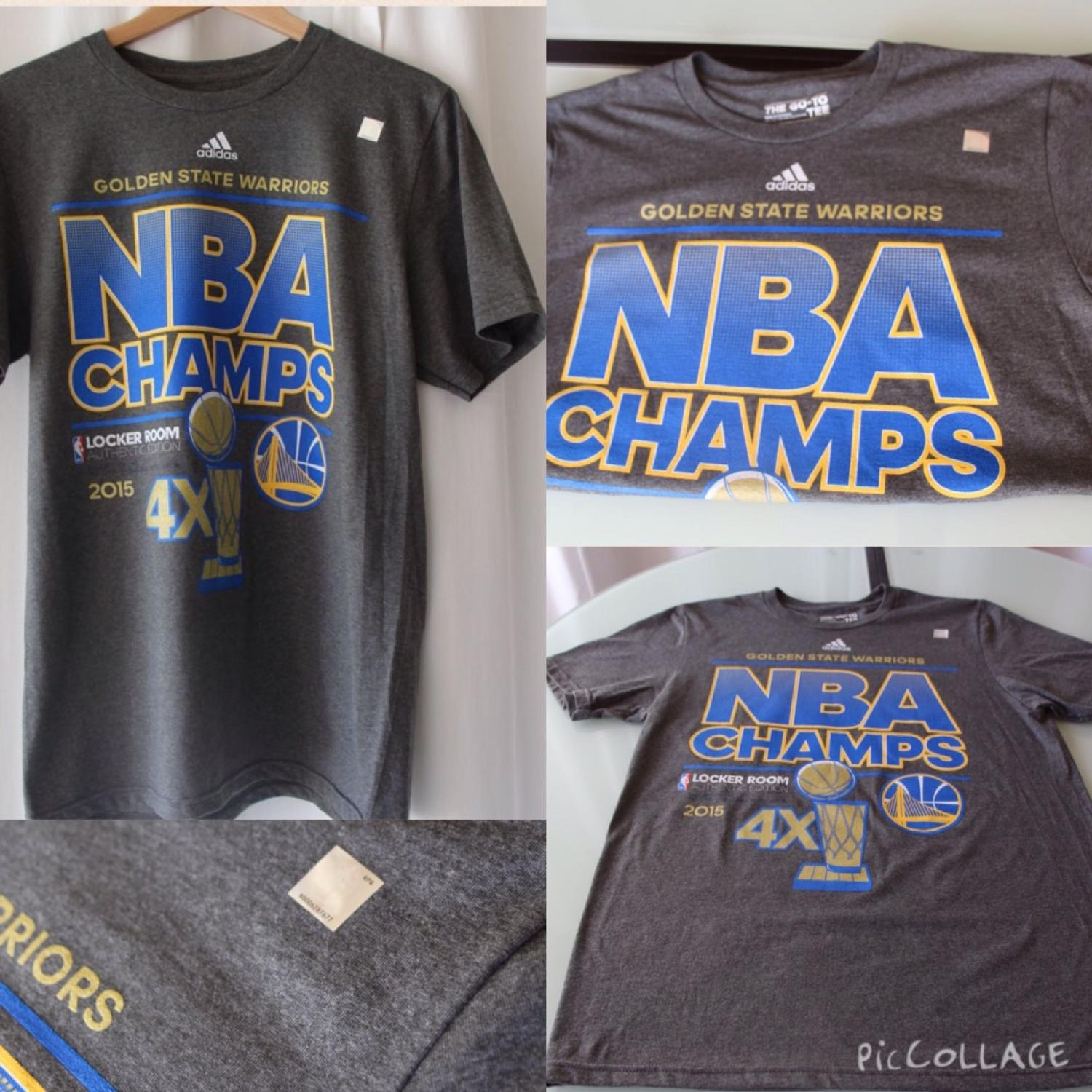 watch 1e10d 938ea **crossed post** Golden state warriors nba championship shirt men size  medium official authentic color dark gray