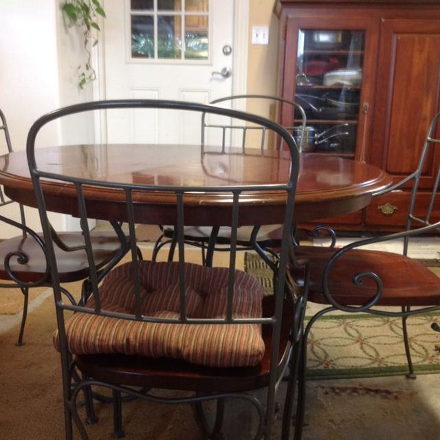 Find More Kincaid Solid Wood With Wrought Iron Legs