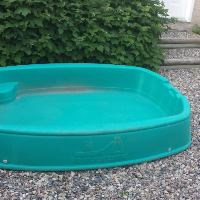 Hard Blue Plastic Kiddie Pool With Slide