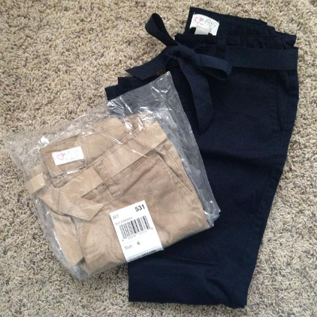 Best 2 Pairs Of School Uniform Pants For Girls Size 6 Nwt From The
