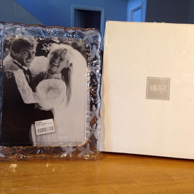 Best Mikasa Garden Terrace Crystal Picture Frame 8x10 for sale in ...