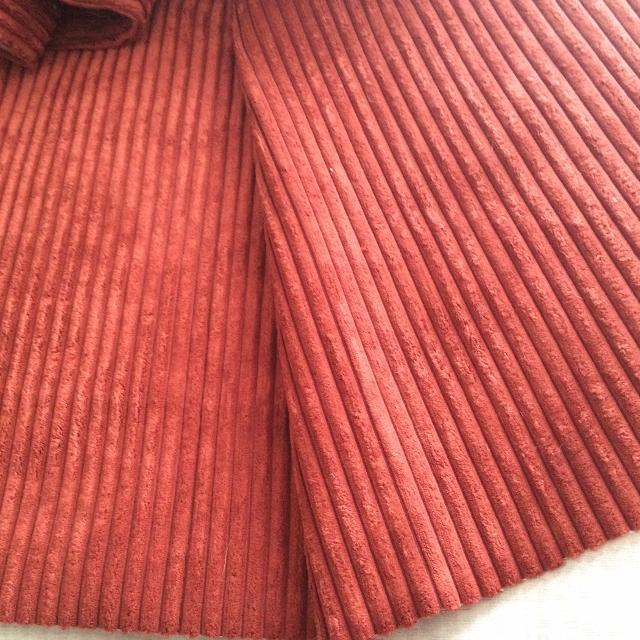 Amazing Deal Dont Miss It Over 17 Yards Free Price Drastically Reduced Brunschwig Fils Wide Wale Corduroy Upholstery Fabric Brick