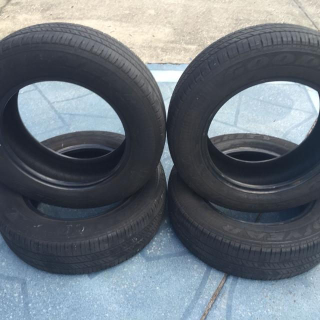 Used Car Tires >> Set Of 4 Goodyear Integrity Used Car Tires