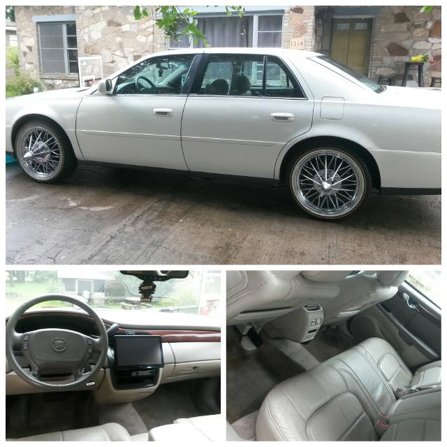 2004 Cadillac Deville 20 Swangaz 84s Vogue Tires Indash Screen 2 12s Small Oil Leak Needs Tags 130 262mls Obo Car Auction On Tues