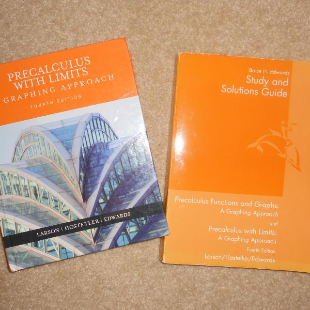 PreCalculus with Limits Textbook and Study and Solutions Guide and 14 DVD's  by Chalk Dust Company (picture in comments)