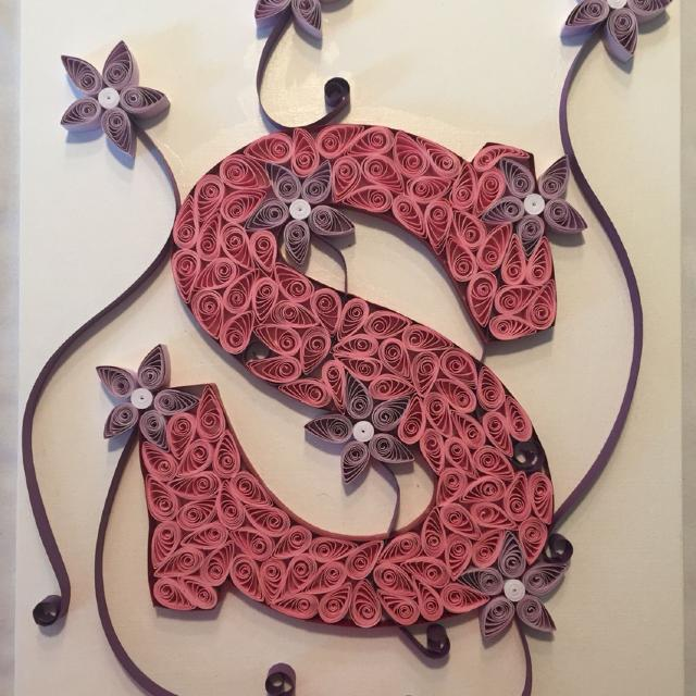 Best quilled wall art letter s for sale in philadelphia quilled wall art letter s altavistaventures Images