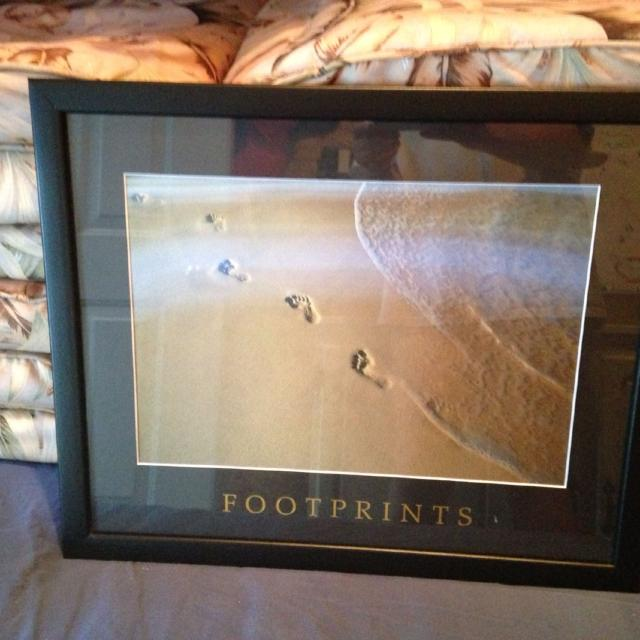 Find more Footprint In The Sand Holographic Picture Frame for sale ...