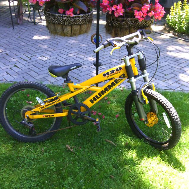 Find More Yellow Youths Hummer Bike 7 Speed H20 Good Condition