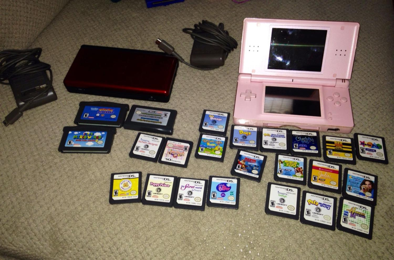 best nintendo ds lite with charger and 23 games each ds includes a charger takes. Black Bedroom Furniture Sets. Home Design Ideas