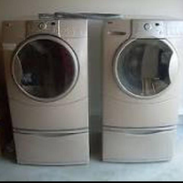 Kenmore He4t Washer And Gas Dryer Tan In Color Ing As A Set