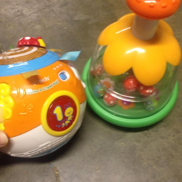VTech move & crawl ball and Pump & Spin toy