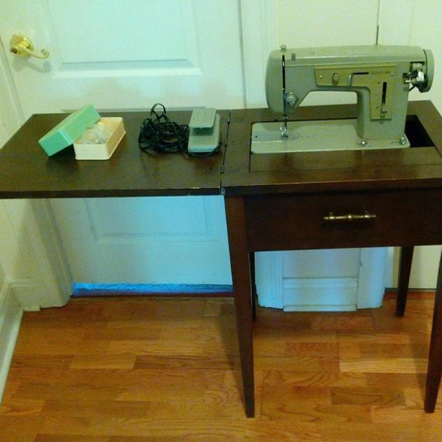 Find More Vintage Electronics Sears Kenmore Sewing Machine In Wooden Custom Antique Kenmore Sewing Machine With Cabinet