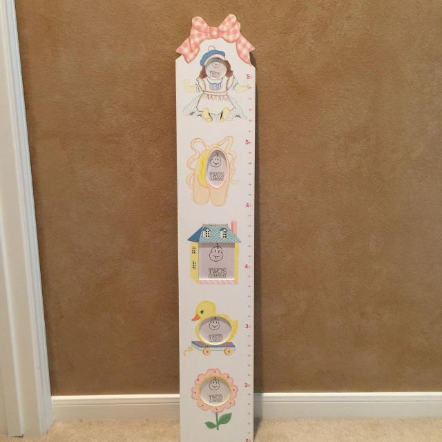 Best Wooden Hand Painted Growth Chart With Photo Slots To Personalize For In Missouri City Texas 2019