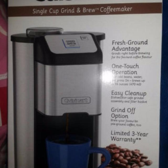 Find More Bnib Cuisinart Grind Brew Single Cup Coffee Maker For