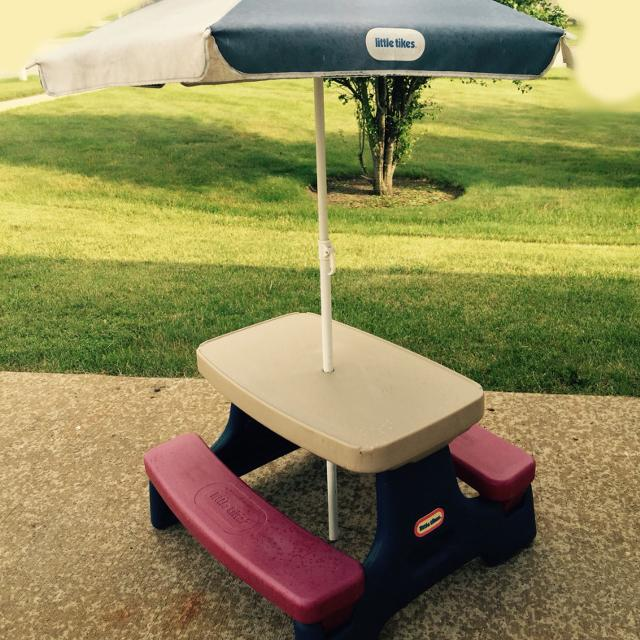 Find More Little Tikes Picnic Table With Removable Umbrella For Sale