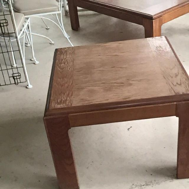 Solid Oak Coffee Table And End Needs Refinishing Or Painting 31x47x16