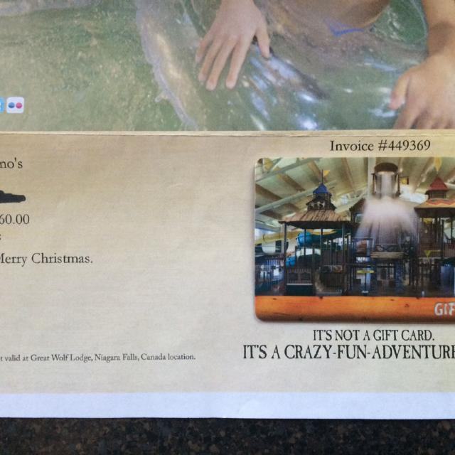 Find more Gift Card. Great Wolf Lodge! for sale at up to 90% off