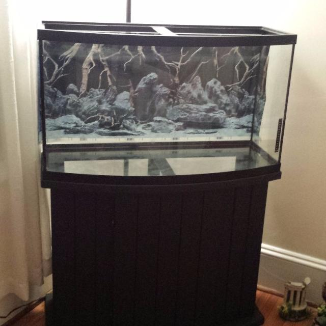 Find more 46 gallon bow front aquarium for sale at up to for How much does a 20 gallon fish tank weigh
