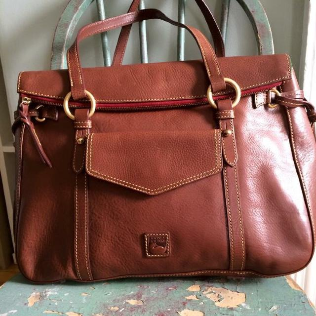 Dooney And Bourke Brown Floine Leather Smith Bag