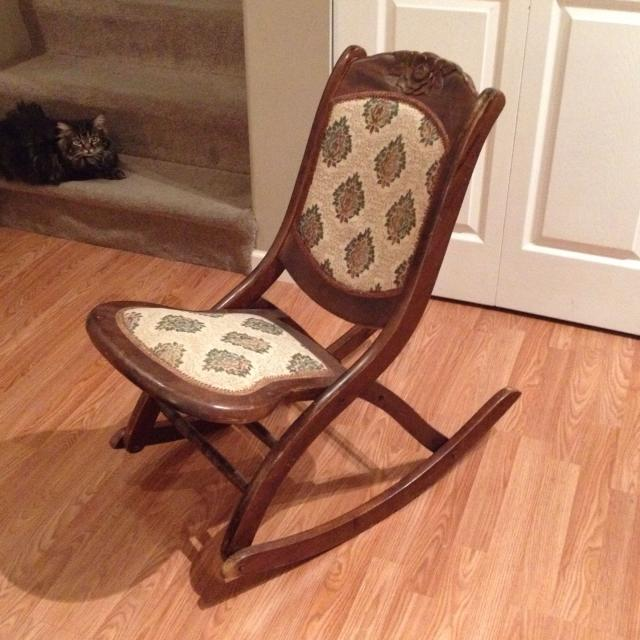 Antique Victorian Campaign folding rocking chair. Reduced $45 xp - Find More Antique Victorian Campaign Folding Rocking Chair. Reduced